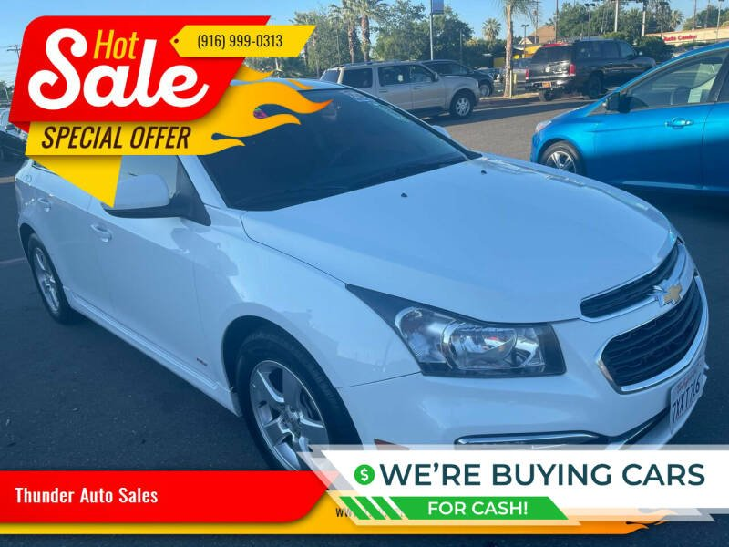 2015 Chevrolet Cruze for sale at Thunder Auto Sales in Sacramento CA