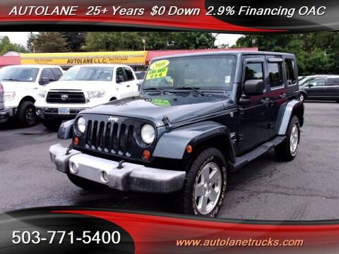 2008 Jeep Wrangler Unlimited for sale at Auto Lane in Portland OR