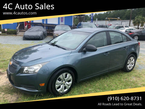 2012 Chevrolet Cruze for sale at 4C Auto Sales in Wilmington NC