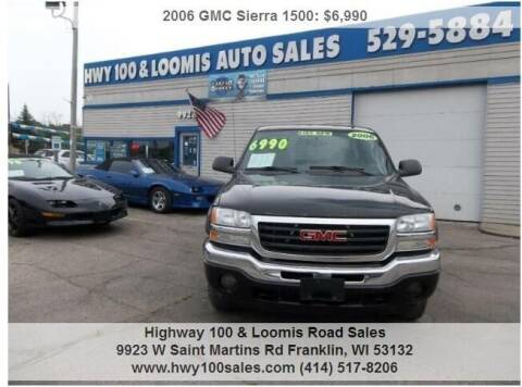 2006 GMC Sierra 1500 for sale at Highway 100 & Loomis Road Sales in Franklin WI