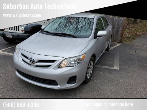 2012 Toyota Corolla for sale at Suburban Auto Technicians LLC in Walpole MA