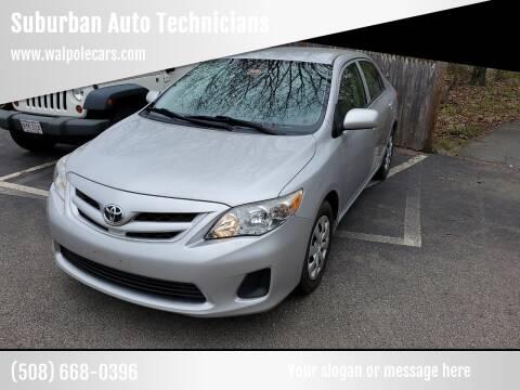 2012 Toyota Corolla for sale at Suburban Auto Technicians in Walpole MA