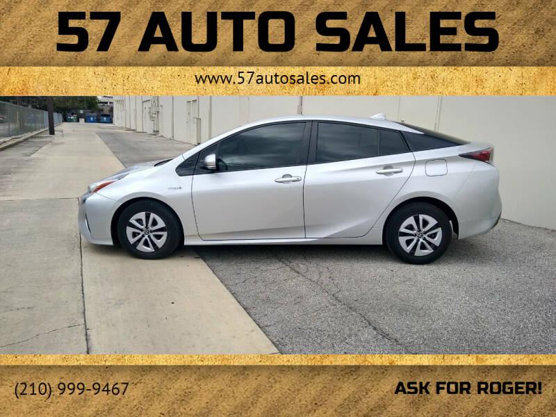 2017 Toyota Prius for sale at 57 Auto Sales in San Antonio TX