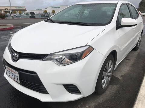 2016 Toyota Corolla for sale at AutoDistributors Inc in Fulton CA