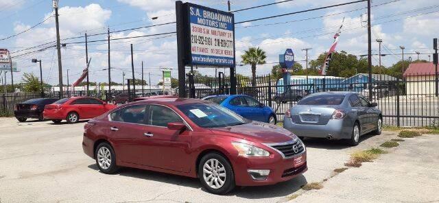 2014 Nissan Altima for sale at S.A. BROADWAY MOTORS INC in San Antonio TX