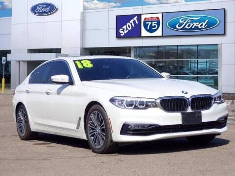 2018 BMW 5 Series for sale at Szott Ford in Holly MI