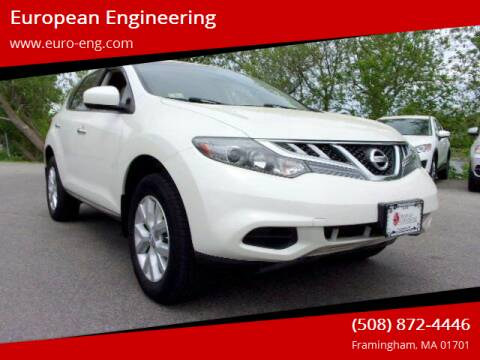 2013 Nissan Murano for sale at European Engineering in Framingham MA