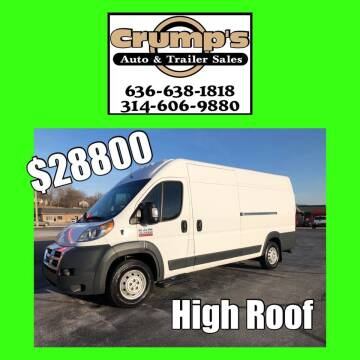 2018 RAM ProMaster Cargo for sale at CRUMP'S AUTO & TRAILER SALES in Crystal City MO