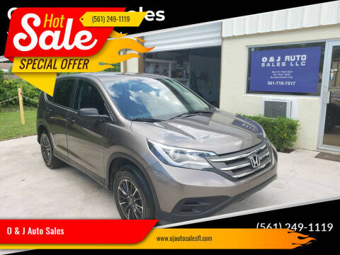 2012 Honda CR-V for sale at O & J Auto Sales in Royal Palm Beach FL