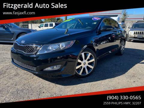 2012 Kia Optima for sale at Fitzgerald Auto Sales in Jacksonville FL