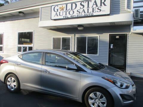 2016 Hyundai Elantra for sale at Gold Star Auto Sales in Johnston RI