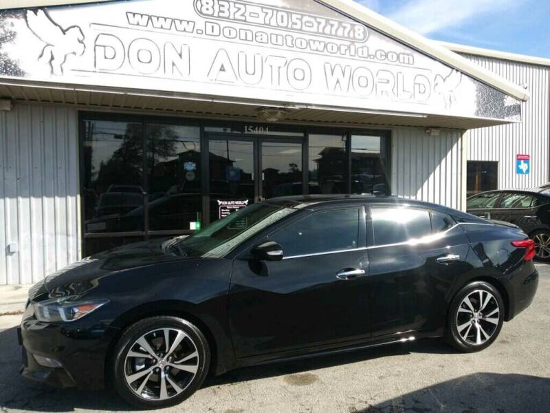 2017 Nissan Maxima for sale at Don Auto World in Houston TX
