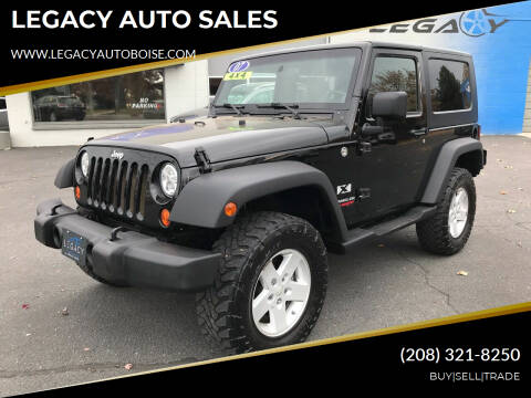 2007 Jeep Wrangler for sale at LEGACY AUTO SALES in Boise ID