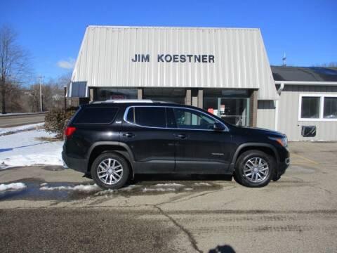 2017 GMC Acadia for sale at JIM KOESTNER INC in Plainwell MI