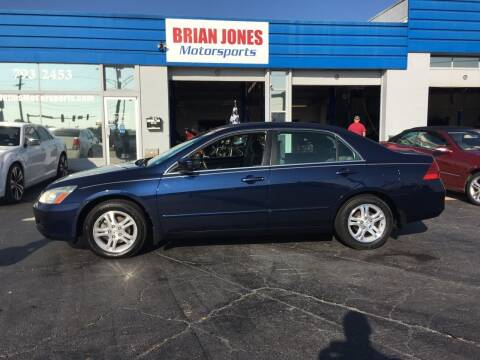 2007 Honda Accord for sale at Brian Jones Motorsports Inc in Danville VA