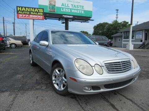 2003 Mercedes-Benz E-Class for sale at Hanna's Auto Sales in Indianapolis IN