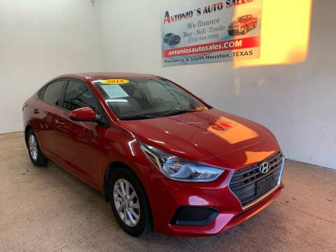 2018 Hyundai Accent for sale at Antonio's Auto Sales - Antonio`s  3001 in Pasadena TX