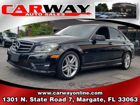2012 Mercedes-Benz C-Class for sale at CARWAY Auto Sales in Margate FL