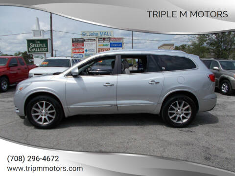 2014 Buick Enclave for sale at Triple M Motors in Saint John IN