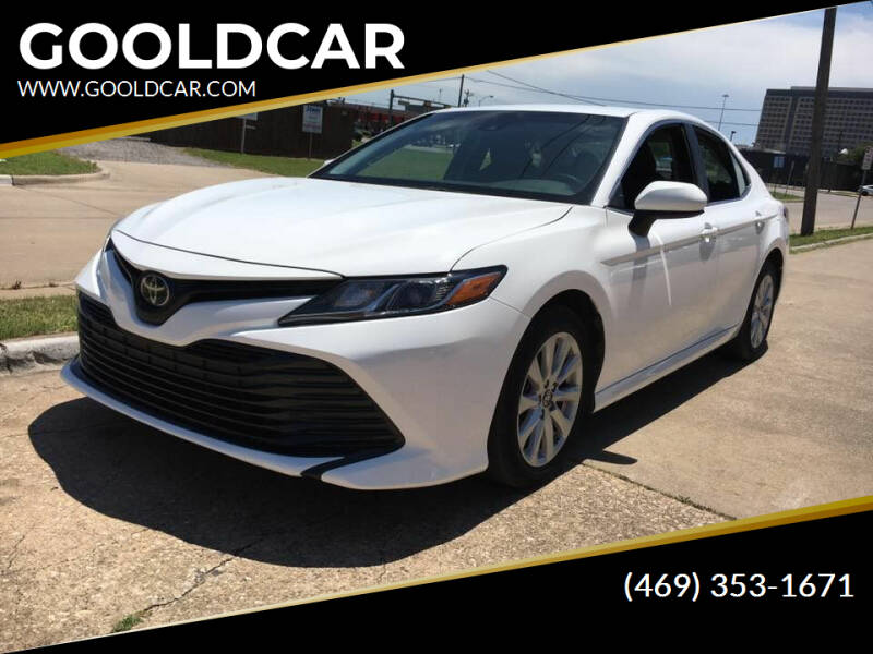 2018 Toyota Camry for sale at GOOLDCAR in Plano TX
