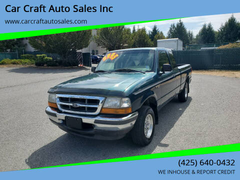 1998 Ford Ranger for sale at Car Craft Auto Sales Inc in Lynnwood WA