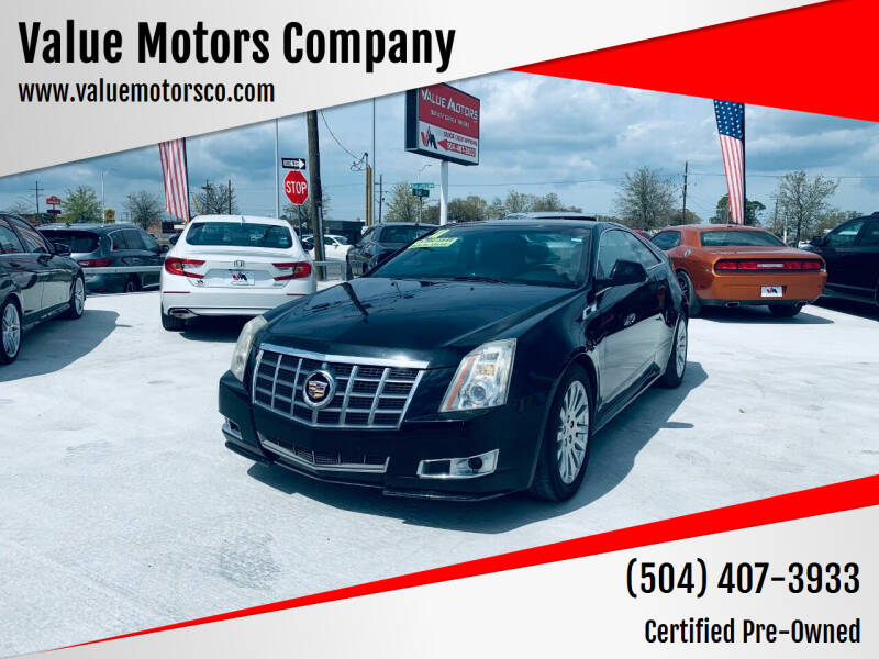 2011 Cadillac CTS for sale at Value Motors Company in Marrero LA