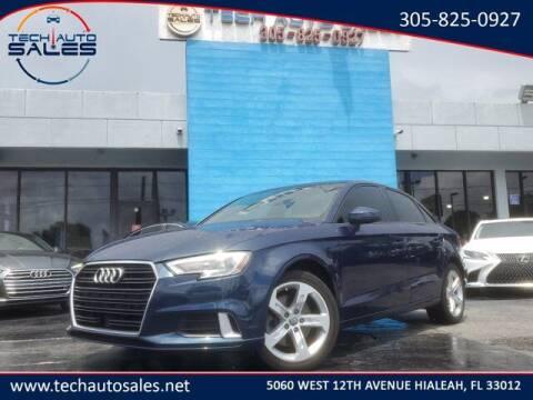 2018 Audi A3 for sale at Tech Auto Sales in Hialeah FL