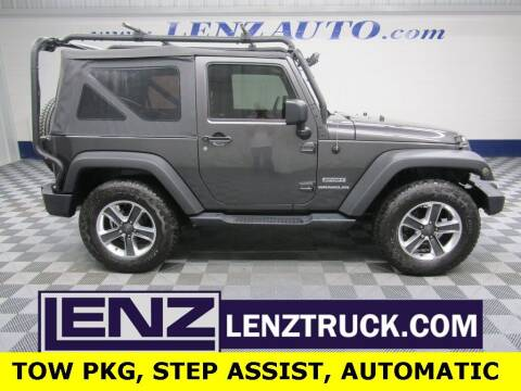 2017 Jeep Wrangler for sale at LENZ TRUCK CENTER in Fond Du Lac WI
