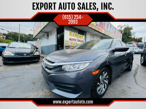 2016 Honda Civic for sale at EXPORT AUTO SALES, INC. in Nashville TN