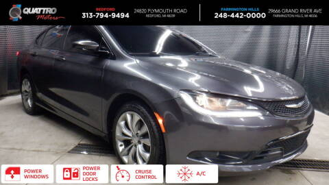 2015 Chrysler 200 for sale at Quattro Motors 2 - 1 in Redford MI