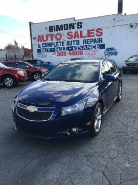 2012 Chevrolet Cruze for sale at Simon's Auto Sales in Detroit MI