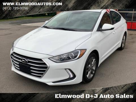 2017 Hyundai Elantra for sale at Elmwood D+J Auto Sales in Agawam MA