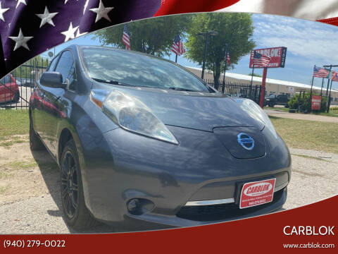 2013 Nissan LEAF for sale at CARBLOK in Lewisville TX