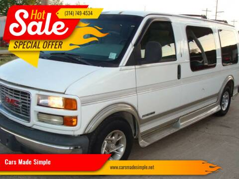 2000 GMC Savana Cargo for sale at Cars Made Simple in Union MO