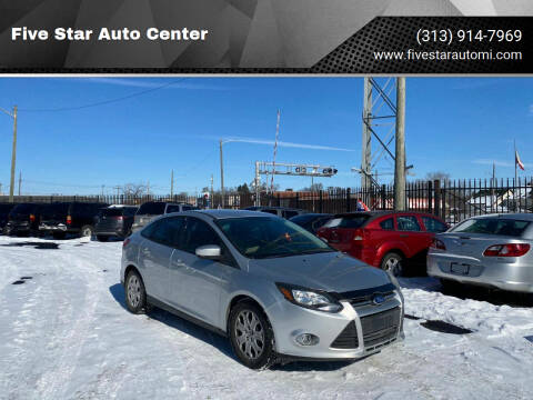 2012 Ford Focus for sale at Five Star Auto Center in Detroit MI