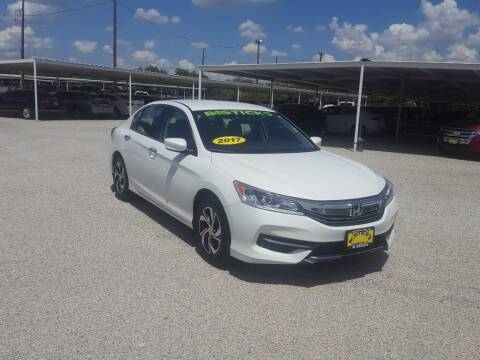2017 Honda Accord for sale at Bostick's Auto & Truck Sales in Brownwood TX
