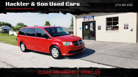 2015 Dodge Grand Caravan for sale at Hackler & Son Used Cars in Red Lion PA