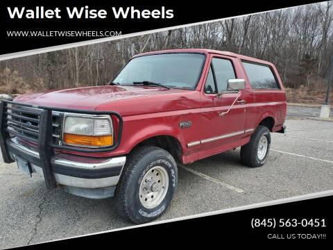 1995 Ford Bronco for sale at Wallet Wise Wheels in Montgomery NY