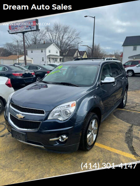 2014 Chevrolet Equinox for sale at Dream Auto Sales in South Milwaukee WI