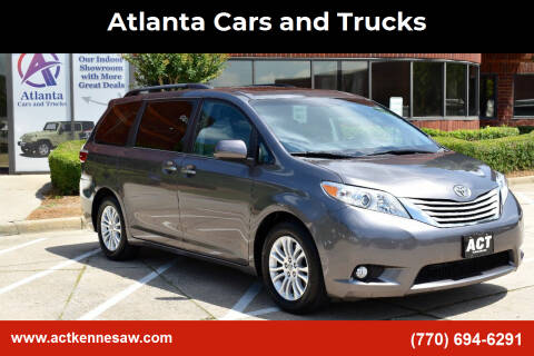 2015 Toyota Sienna for sale at Atlanta Cars and Trucks in Kennesaw GA