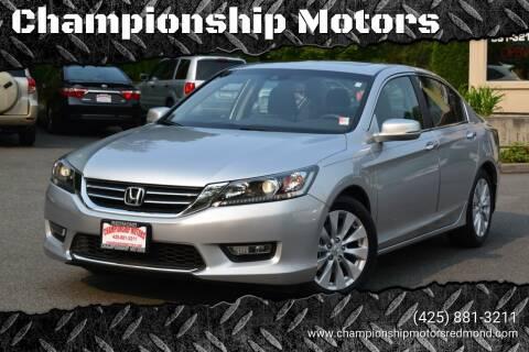 2013 Honda Accord for sale at Mudarri Motorsports - Championship Motors in Redmond WA