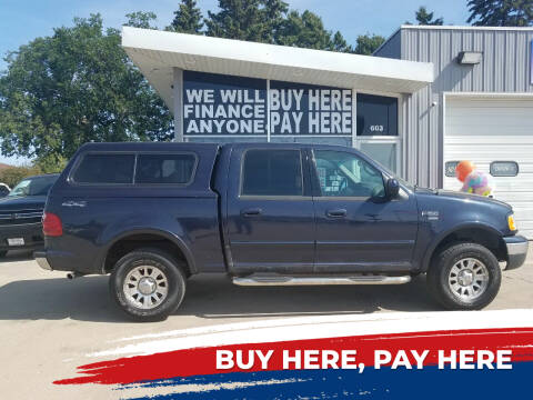 2001 Ford F-150 for sale at STERLING MOTORS in Watertown SD
