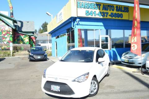 2019 Toyota Yaris for sale at Earnest Auto Sales in Roseburg OR