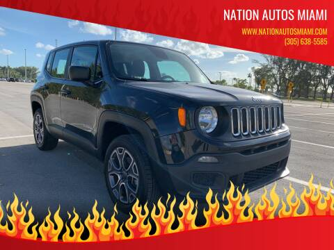 2018 Jeep Renegade for sale at Nation Autos Miami in Hialeah FL