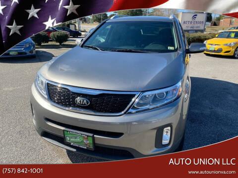 2014 Kia Sorento for sale at Auto Union LLC in Virginia Beach VA