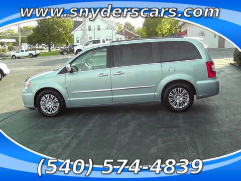 2013 Chrysler Town and Country for sale at Snyders Auto Sales in Harrisonburg VA