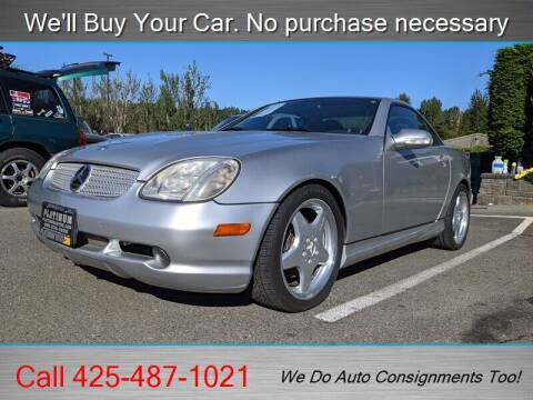 2001 Mercedes-Benz SLK for sale at Platinum Autos in Woodinville WA