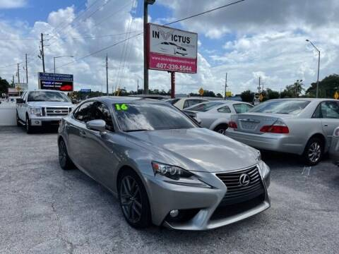 2016 Lexus IS 200t for sale at Invictus Automotive in Longwood FL