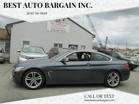 2016 BMW 4 Series for sale at BEST AUTO BARGAIN inc. in Lowell MA