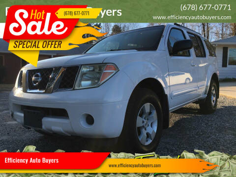 2005 Nissan Pathfinder for sale at Efficiency Auto Buyers in Milton GA